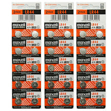 30x Maxell LR44 A76 AG13 357 303 SR44 L1154 Alkaline Battery Made in Japan NEW