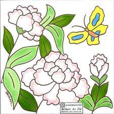 PEONY  FLOWER, WALL PLAQUE, TILE, TRIVET ~ DIRECTLY FROM BESHEER ART TILE