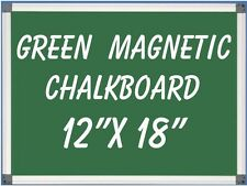"12"" x18"" Aluminum Framed Green Magnetic Chalkboard + Pen Tray Liquid Chalk Ok"