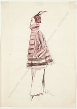 """Gret Kalous-Scheffer (1892-1975) """"Fashion Projects"""", Seven Watercolors, 1950s"""