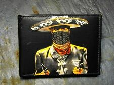 El Charro Decorated Leather Wallet - Day of the Dead - M124