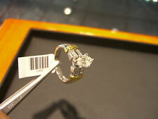 FINE PLATINUM 18 KARAT YELLOW GOLD DIAMOND ENGAGEMENT RING 1.85 CARATS MARQUISE