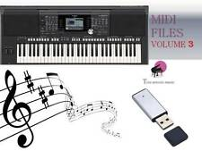 MIDI File Karaoke USB stick for PSR S950 S970 Vol 3 NEW