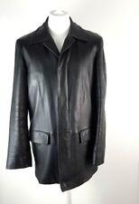 Hugo Boss Mens Black Premium Lamb Leather Jacket Coat Size M Formal Smart