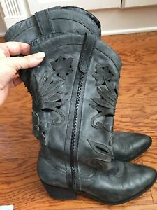 Womens Cowboy Boot By Carlos Size 7.5M Dark Grey Preowned