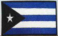 CUBA FLAG Embroidered Iron-On PATCH Tactical EMBLEM BLUE & BLACK  #462
