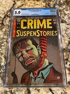 CRIME SUSPENSTORIES #20 CGC 5.0 CLASSIC HANGING COVER USED IN SOTI ICONIC BOOK!