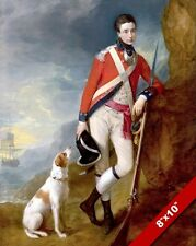 KINGS OWN 4TH REGIMENT OF FOOT OFFICER PAINTING BRITISH HISTORY ART CANVAS PRINT