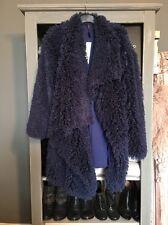 Blue Shaggy Mongolian Style Furry Coat