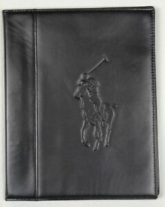 Polo Ralph Lauren Black Leather Big Pony Tablet Media Case NWT