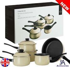 Cooking Pots and Pans Kitchen Carbon Steel Cookware Set 7 Piece PC Non Stick
