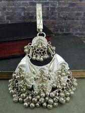 Large Silver Jingle Bell Tribal Gypsy Fringe Pendant/ Keychain w/ Purse Hook