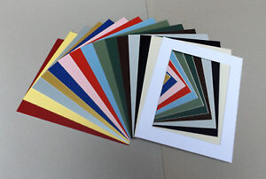 "Cardboard PICTURE MOUNTS for 16x12"" Picture Frame Lots of colours/cut out sizes"