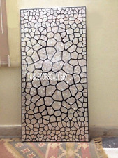 5'x3' Marble Dining Table Top Mother of Pearl Mosaic Inlay Furniture Decor H3348