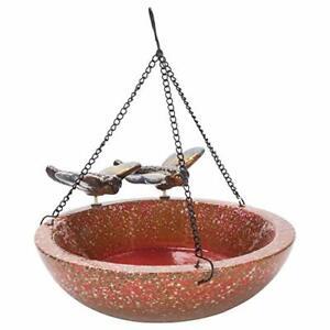 "Design Imports Botanical Dragonfly Ceramic Bird Bath Feeder 10"""