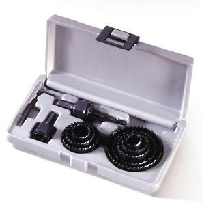 Coffret scies cloches 12 Pièces de 19 à 64 mm Bois Placo Plastique Plâtre  PROMO