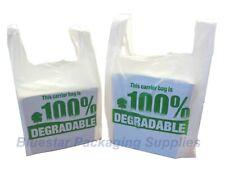 More details for 100% degradable eco plastic shopping vest carrier bags large / x large