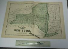 1875 Beers Map of NEW YORK STATE