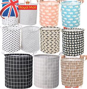 Foldable Laundry Basket Washing Basket Hamper Bin Dirty Clothes Storage Bag Box