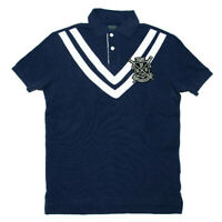 Men's Polo Ralph Lauren Mesh Polo Shirt ROWING CLUB S-XXL Navy Rugby CUSTOM FIT