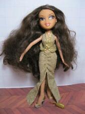 """CELEBRiTIEZ Bratz 10"""" Doll YASMIN THE MOVIE Celebrity GOLD GOWN DRESS/SHOES"""