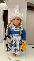 Vtg Waterland Dolls of Holland Hand Made Porcelain Costume Doll  New In Orig Box