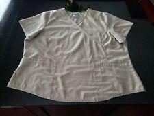 Scrubstar Women's Scrub Top Size 2X-Large Tan. Nice an Pretty!