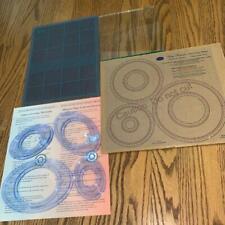 Creative Memories Scapbook Circle Cutting Patterns-4 Oval-Cutting Mat Lot