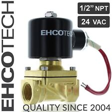 "1/2"" NPT 24V AC Brass Electric Solenoid Valve 24-volt AC Water Air Gas Viton NC"
