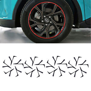 Carbon Fiber Wheels Spoke Decal Sticker Fit For Toyota C-HR CHR 2018-2021