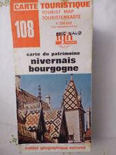 CARTE IGN sere  touristique rouge 108 nivernais bourgogne 1982