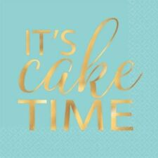 ADULT BIRTHDAY It's Cake Time SMALL NAPKINS (16) ~ Party Supplies Beverage Cake