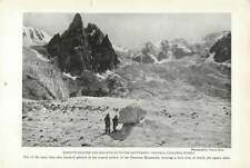 1917 Longuta Glacier And Mountains To The South-west Of Central Caucasus Russia