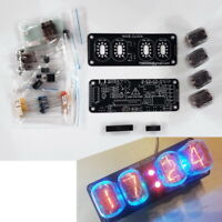 DIY KIT with tubes Nixie Clock  4x IN-12 + INS-1 RGB Backlight Alarm *All parts*