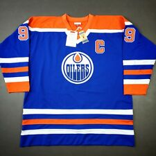 100% Authentic Wayne Gretzky Mitchell & Ness Oilers Jersey Size 56 3XL Mens