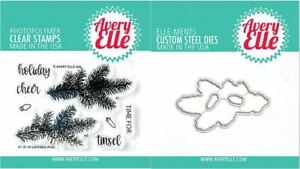 Avery Elle Clear Stamp & Die Combo ~ LAYERED PINE Christmas, Branch  ~ST/D-21-31