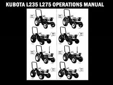 Kubota L235 L275 Tractor Operations Manual for Maintenance Service & Repair