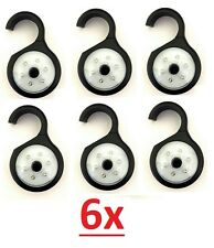 LOT of 6x 4x 2x or 1x Pocket Hanging Closet 6 LED Light Touch Lamp 360 Swivel