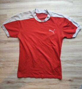 PUMA Herren T-Shirt NO Retro, rot-weiß, Gr. S