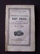 Distribution solennelle des prix - 21 Août 1838