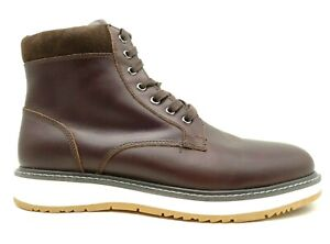 Express Brown Leather Lace Up Dress Casual Ankle Boots Men's 12