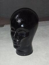 Glaskopf Kopf für Kopfhörer Phono - Deko -Glas - schwarz - 70 er Jahre - wie neu