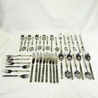 Vintage MCM Ekco Eterna Gemini Stainless Steel Flatware 37 pieces Japan