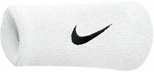 "Nike Swoosh Doublewide Wristband in White High Absorbency - 5"" / 12.7 cm"