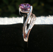 New Size Y sterling silver ring 925, Main Stone Colour Amethyst , Solitaire