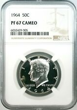 1964 Proof Kennedy Half Dollar certified PF 67 Cameo by NGC!