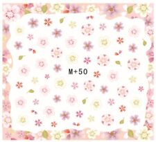 Nail Art Stickers Water Decals Transfers Pale Flowers (M+50)
