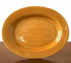 NEW Pottery Barn SAUSALITO SERVING PLATTER Amber Gold
