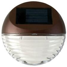 Solar Powered Round Mini LED Deck Light / Step Light, Bronze Finish,1-Pack