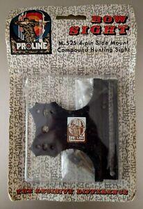 Vintage Proline Archery Bow 4 Pin Single Slot Sight M-525 NIP NOS Side Mount